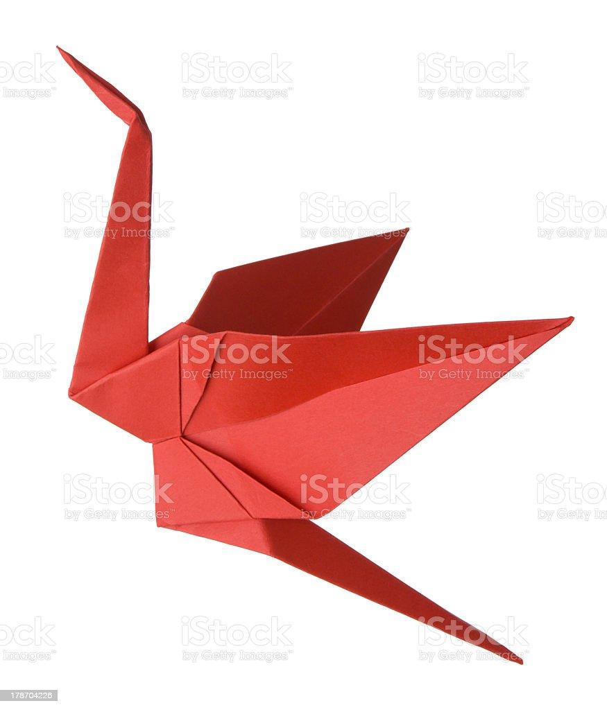 Origami Crane stock photo