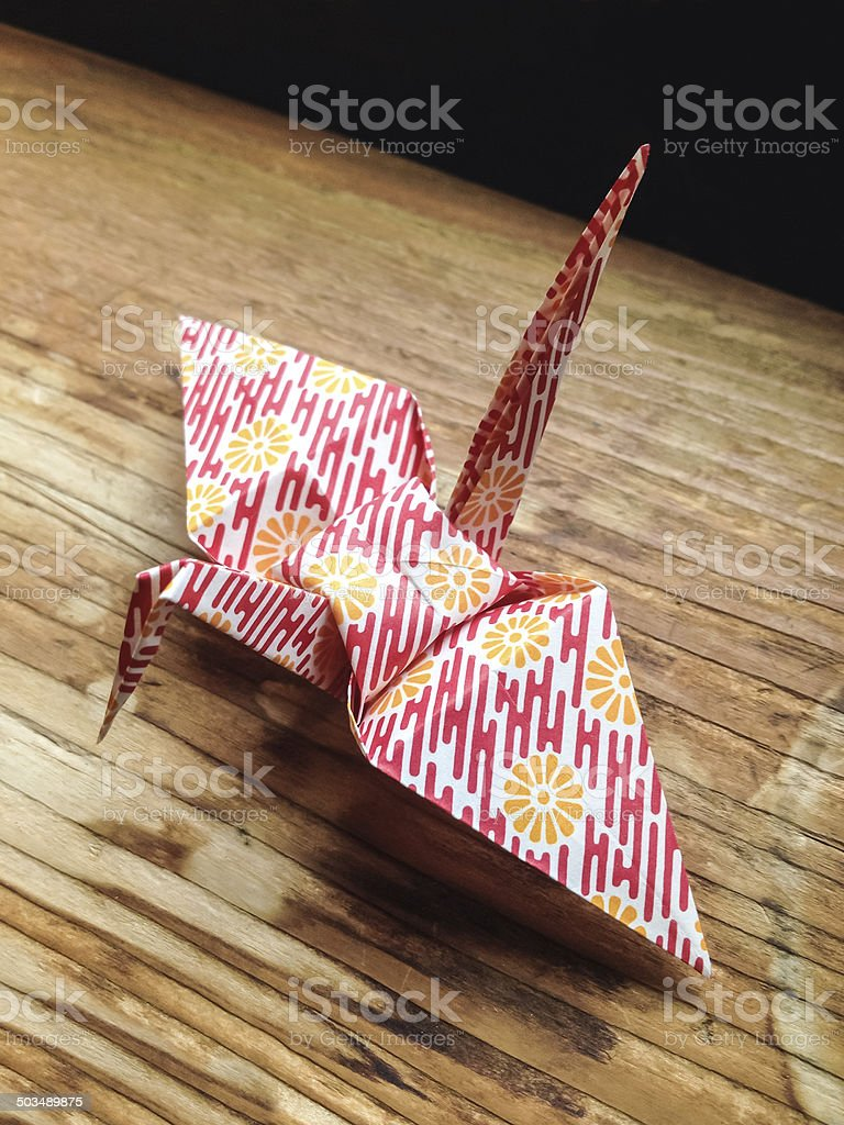 Origami Crane royalty-free stock photo
