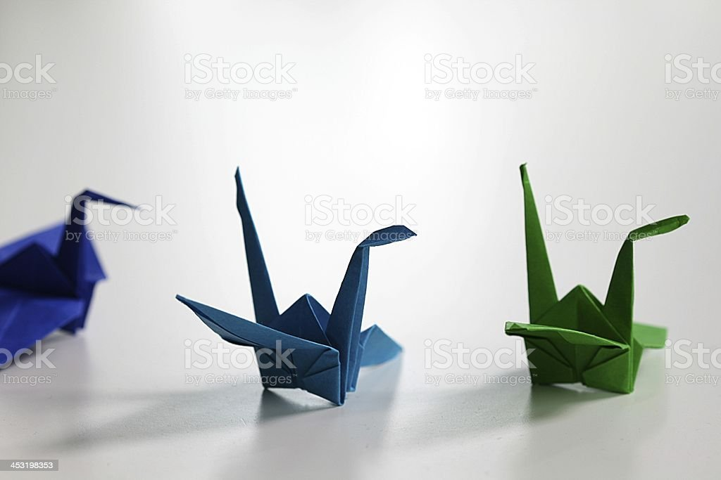 origami cranes royalty-free stock photo