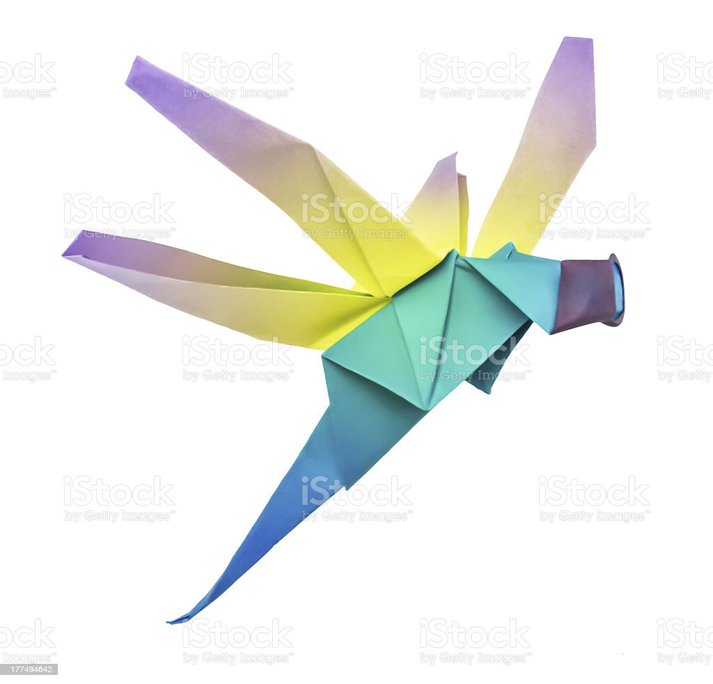 Origami dragonfly royalty-free stock photo