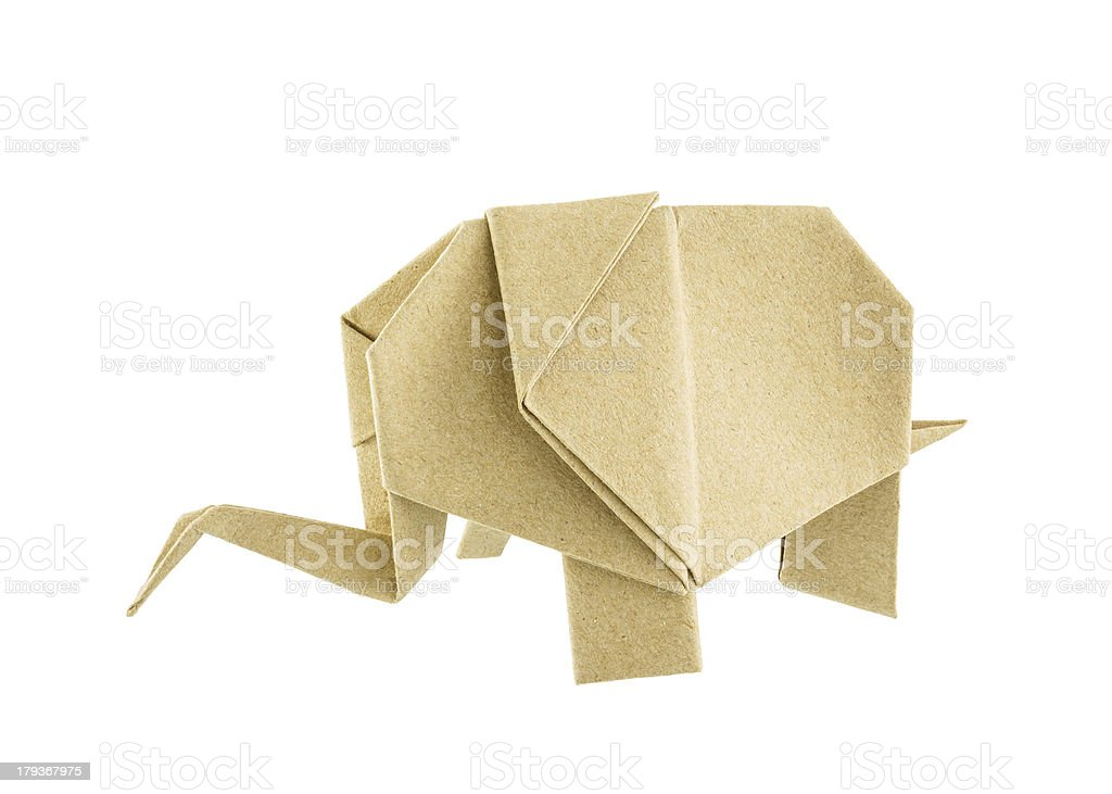 Origami elephant recycle paper royalty-free stock photo