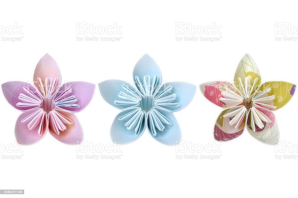 Origami flower stock photo