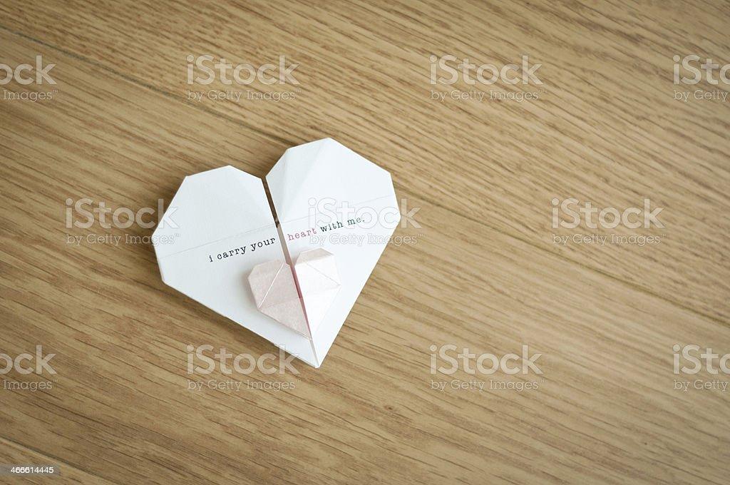 Origami Hearts royalty-free stock photo