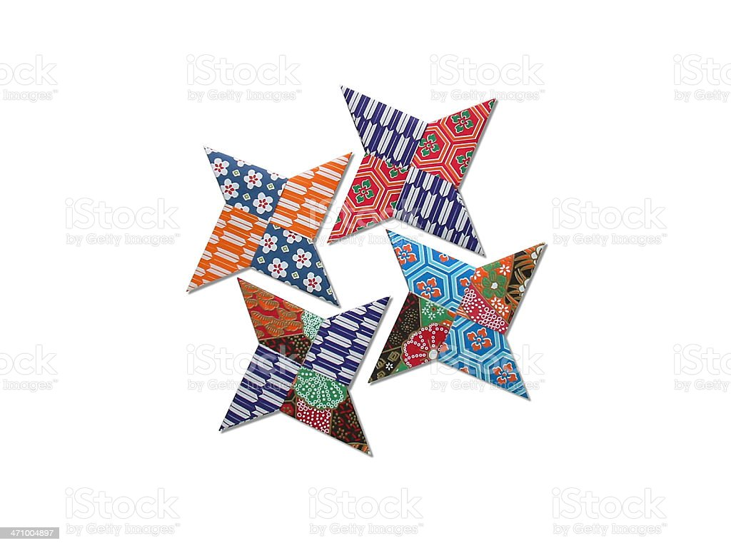 origami - Japanese Ninja's dirks royalty-free stock photo