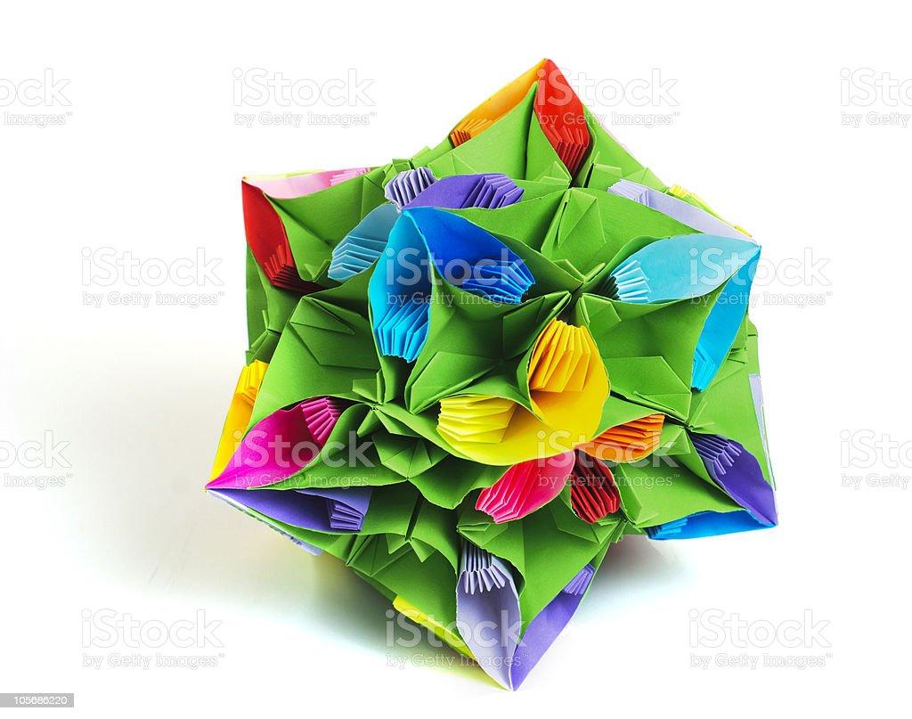 Origami kusudama flower royalty-free stock photo