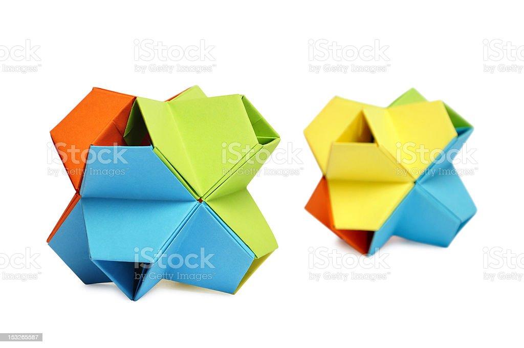 origami kusudama royalty-free stock photo
