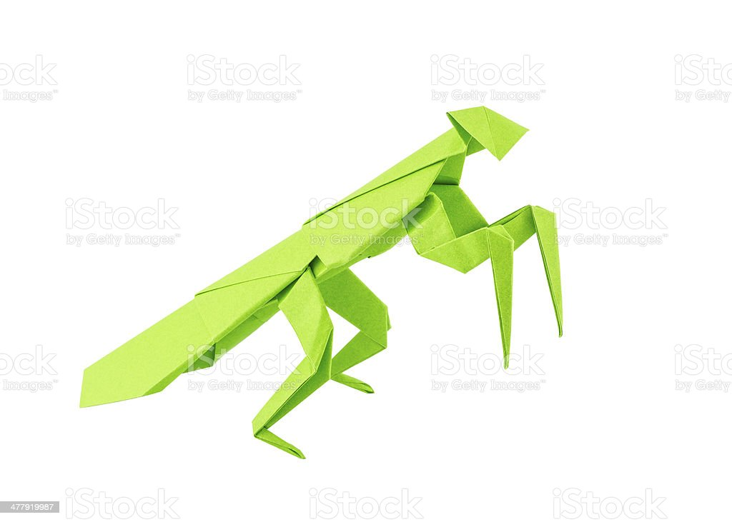 Origami mantis royalty-free stock photo