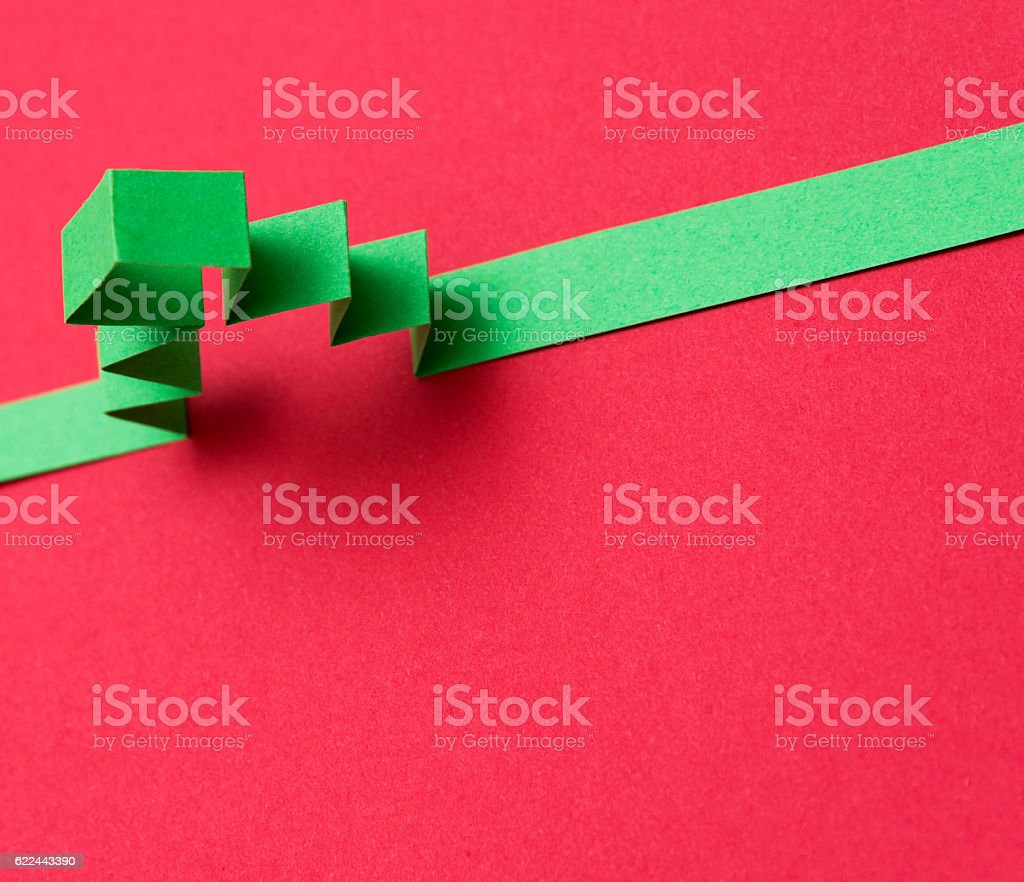 Origami paper christmas tree stock photo