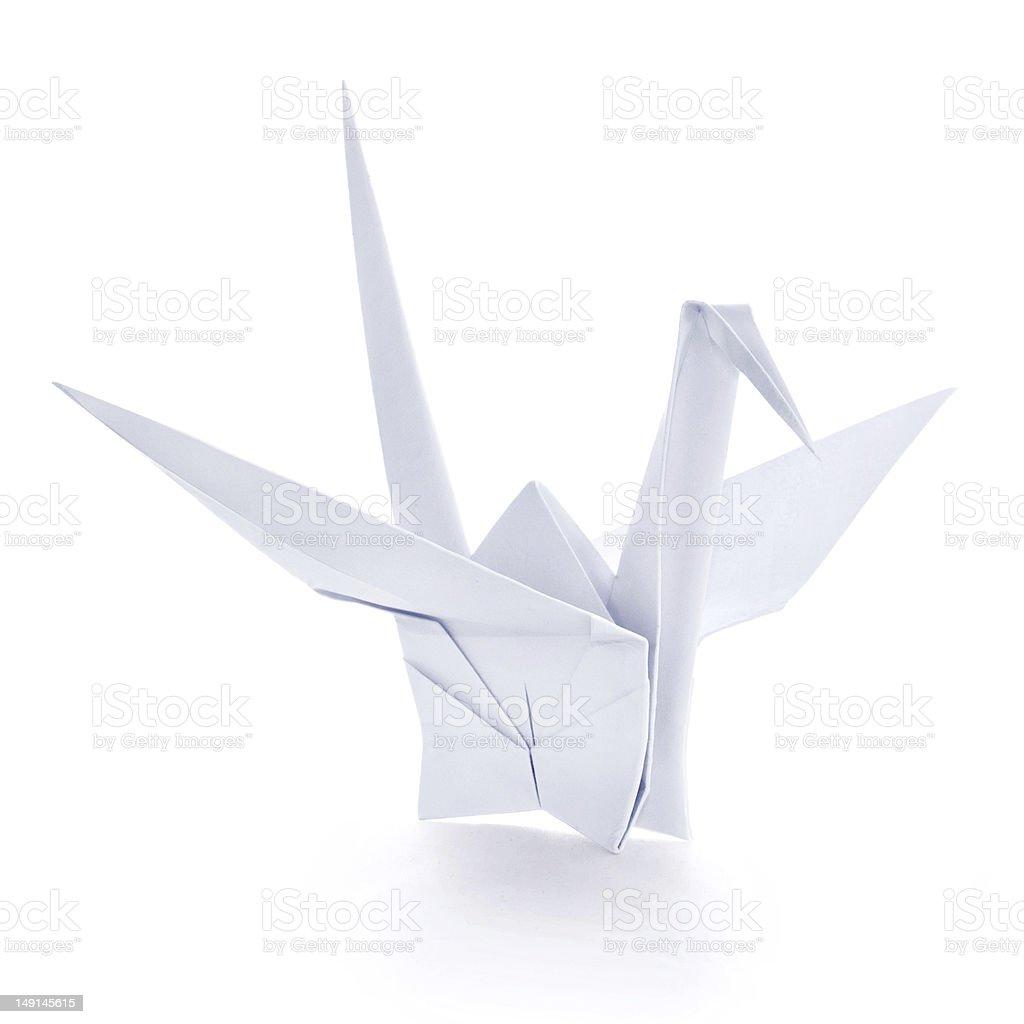 Origami paper crane stock photo