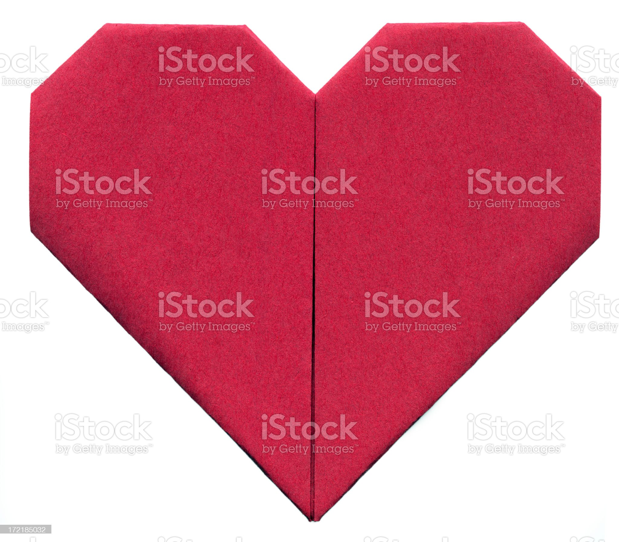 Origami Paper Heart (XXL, clipping path) royalty-free stock photo