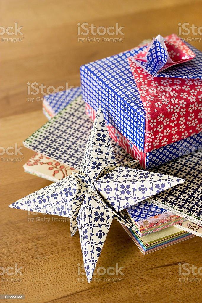 Origami papercraft stock photo