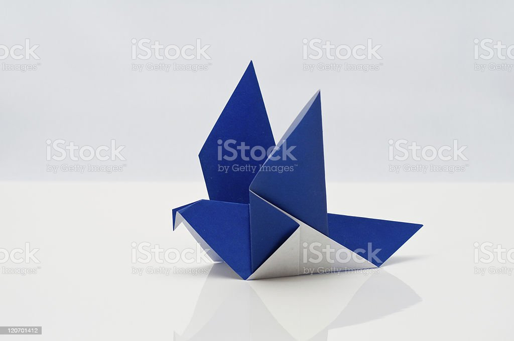 Origami - pigeon royalty-free stock photo