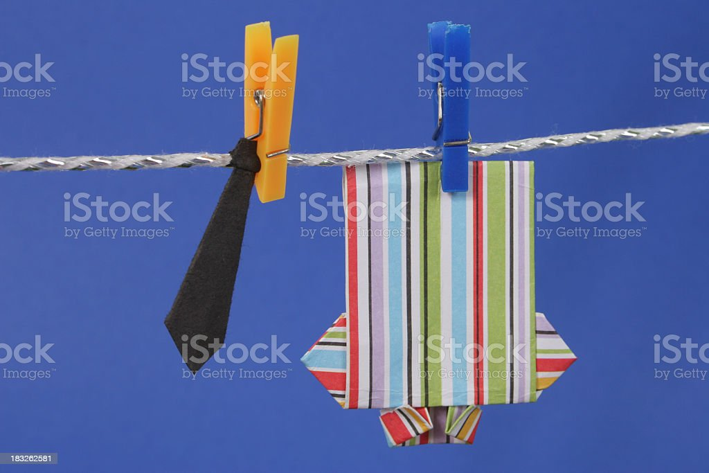 Origami shirt and tie royalty-free stock photo