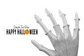 Origami skeletone hand
