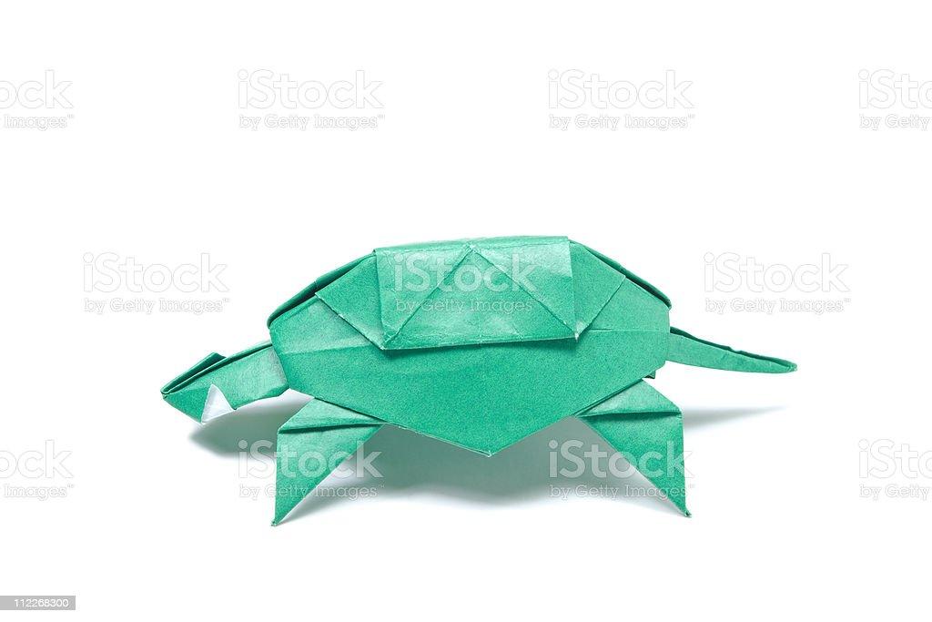 Origami Turtle stock photo