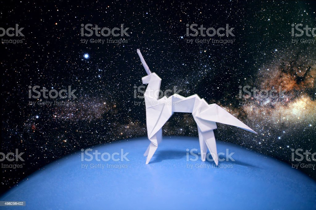 Origami Unicorn stock photo