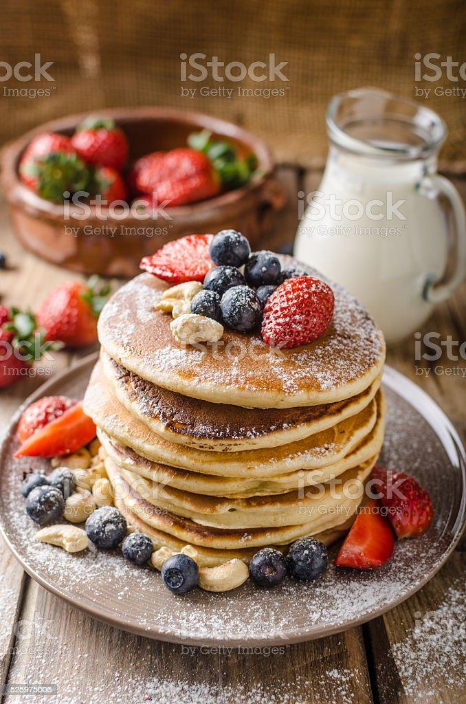Original american pancakes stock photo