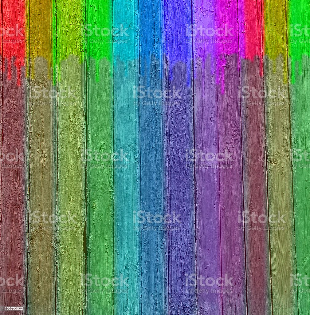 Original background in the form of a multi-coloured wooden wall royalty-free stock photo