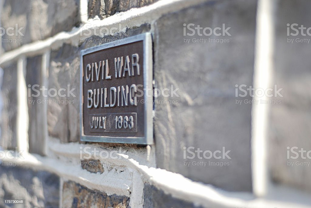 Original Civil War Building From 1863 royalty-free stock photo