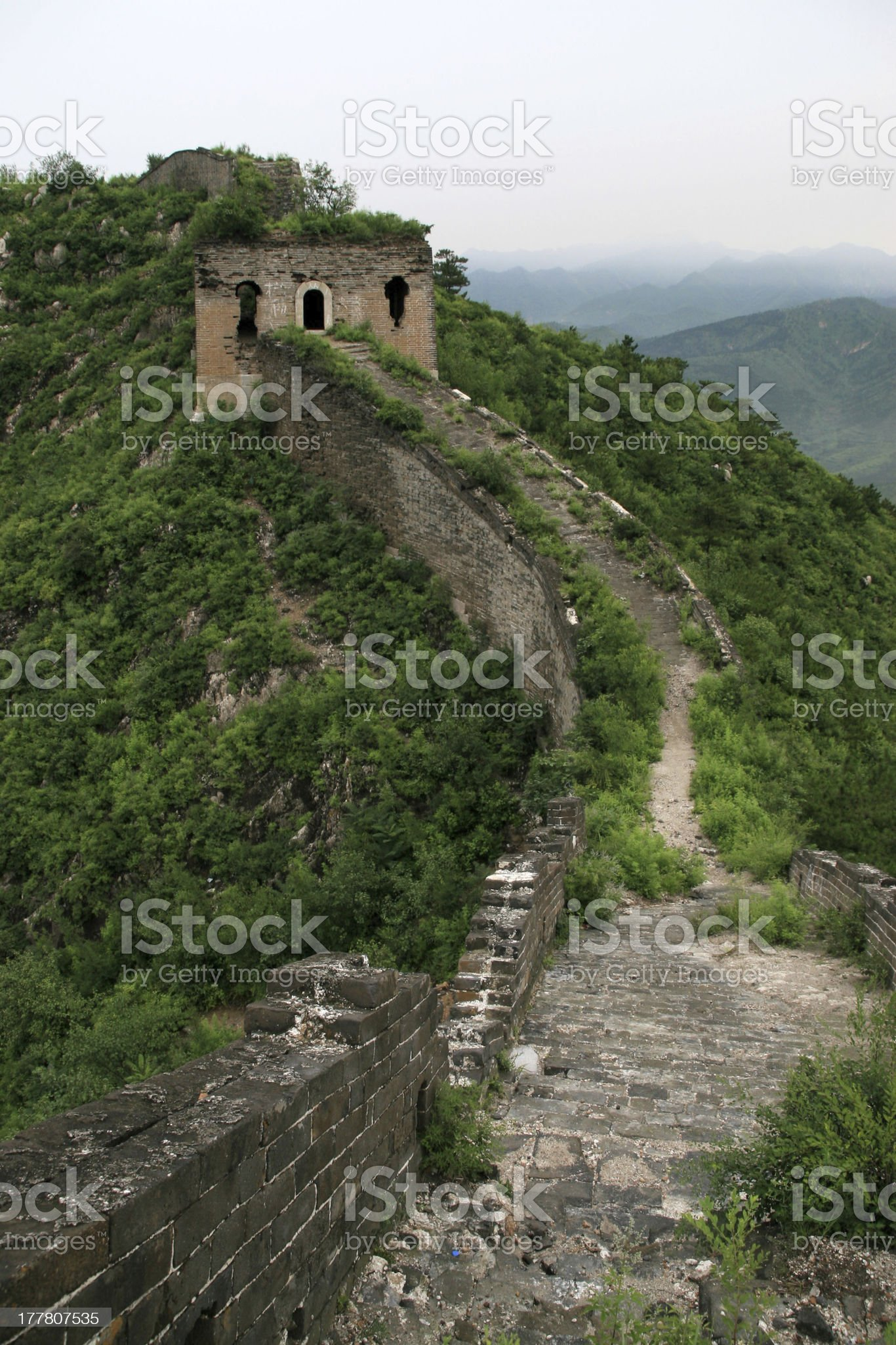 original ecology of great wall pass in north china royalty-free stock photo
