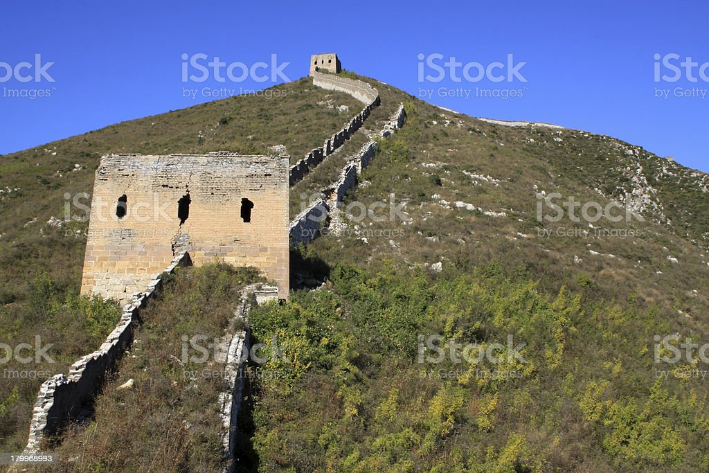 original ecology of the great wall pass royalty-free stock photo