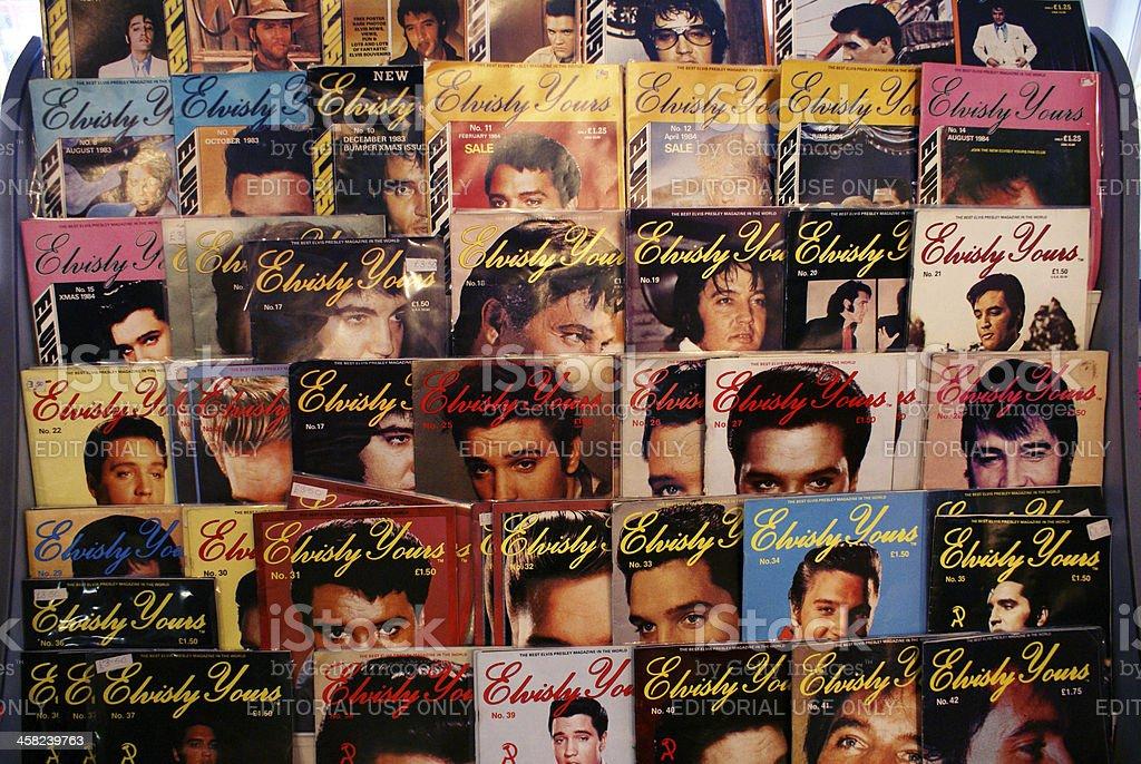 Original Elvisly Yours collectors magazine stock photo