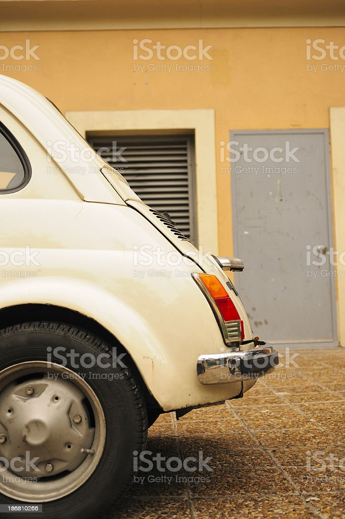 Original Fiat 500, rear royalty-free stock photo