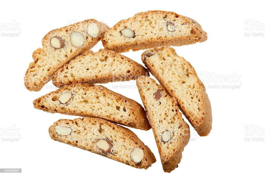 original Italian crisp almond cookies royalty-free stock photo