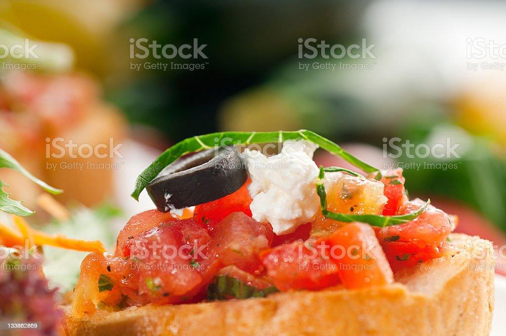 original Italian fresh bruschetta royalty-free stock photo
