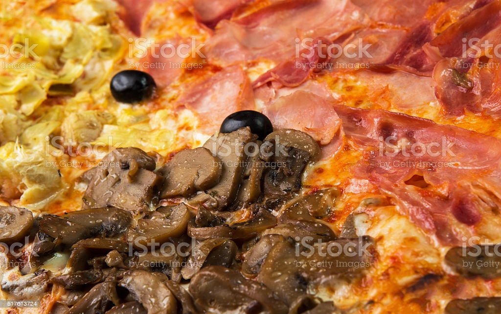 Original Italian Pizza 'Four Seasons' stock photo