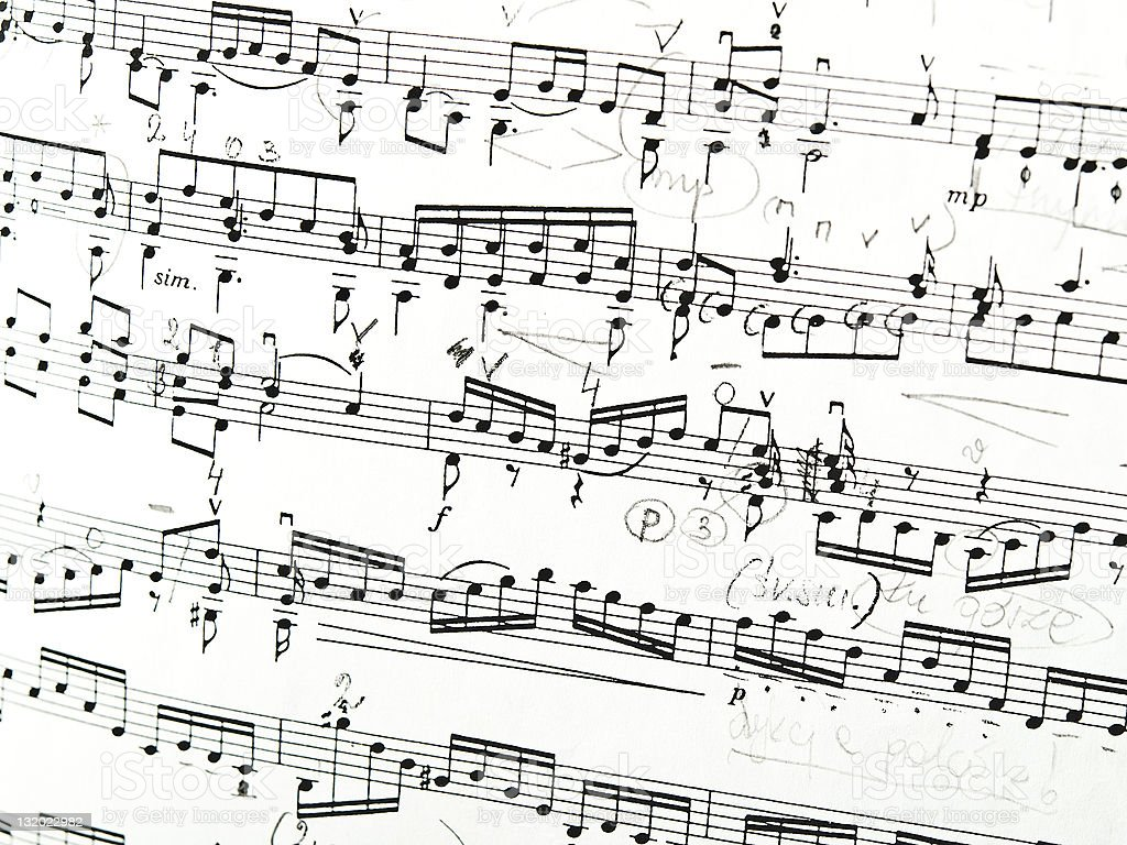 Original Musical Notes royalty-free stock photo