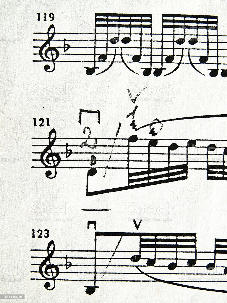Original Musical Notes royalty-free stock photo