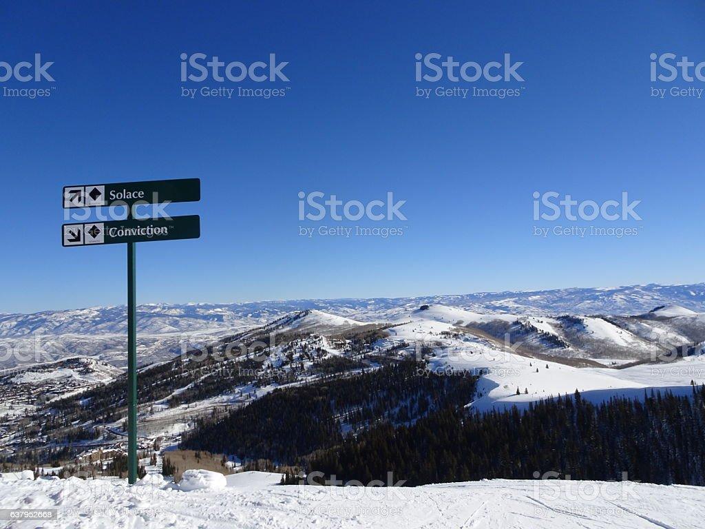original peak of sundance ski resort stock photo