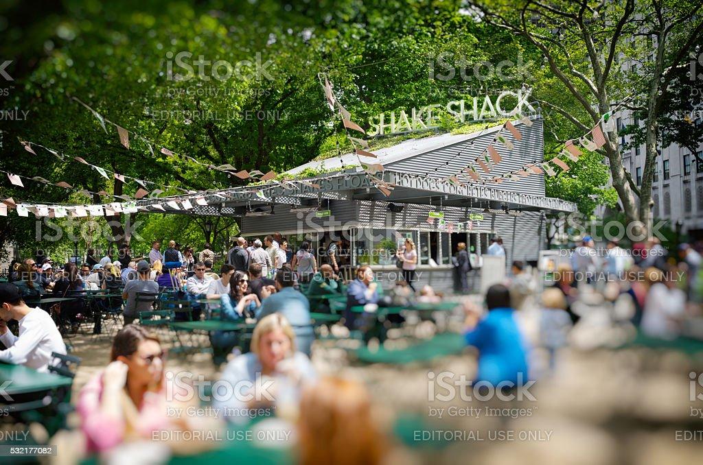 Original Shake Shack in Madison Square Park stock photo