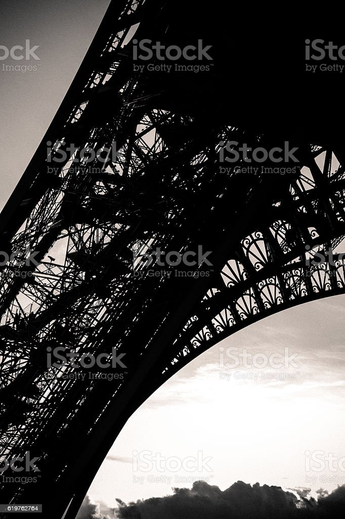 Original view of Eiffel Tour in Paris stock photo