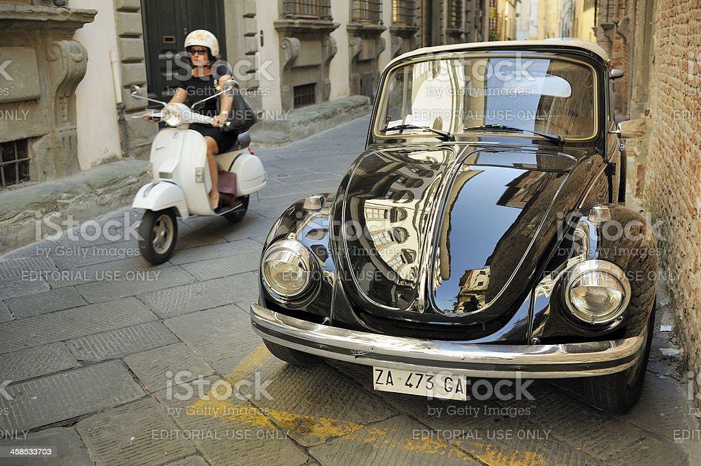 Original VW Beetle Convertible by Karmann stock photo