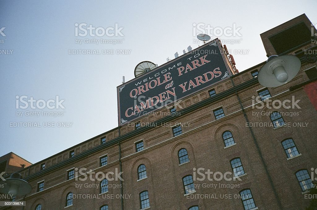 Oriole Park at Camden Yards Exterior stock photo