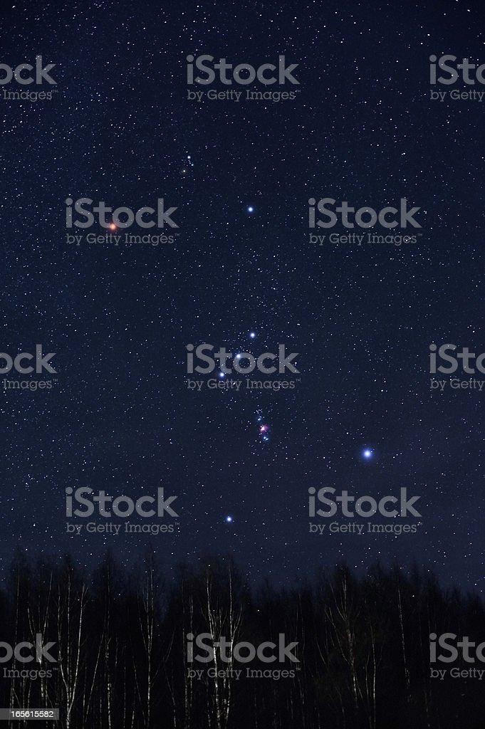 Orion constellation stock photo