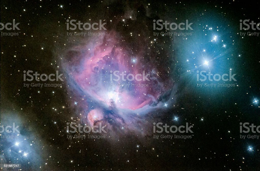 Orion nebula M42 stock photo