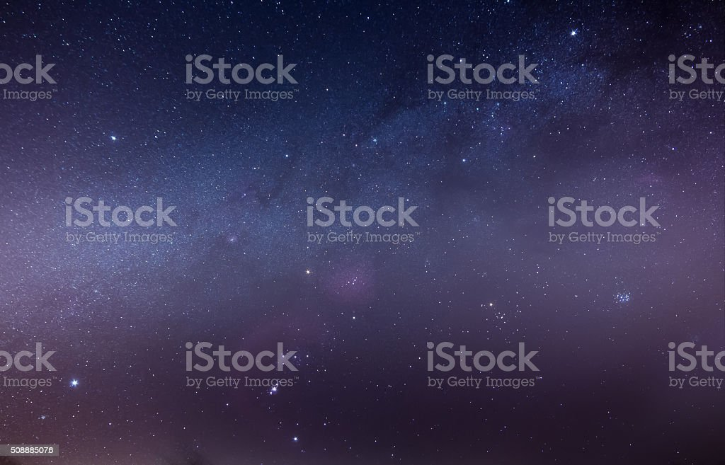 Orion Starfield stock photo