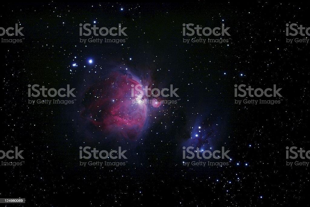 Orion-Nebula & Running Man II stock photo