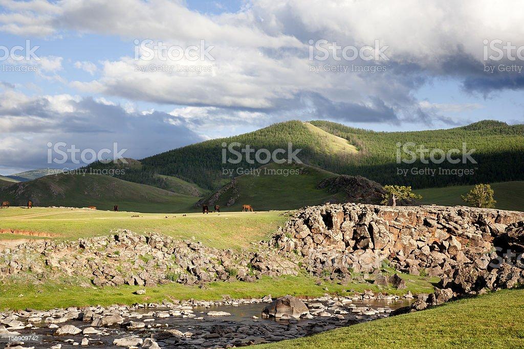 Orkhon idyllic landscape royalty-free stock photo