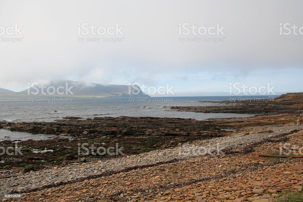 Orkney coast stock photo