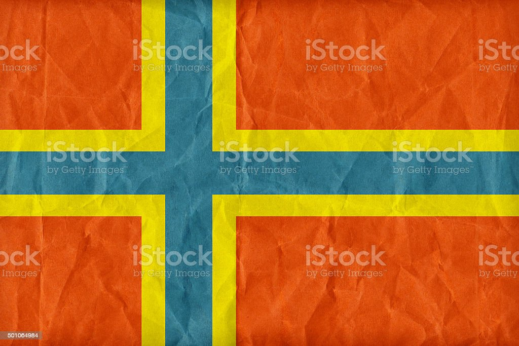Orkney flag pattern on paper texture,retro vintage style stock photo