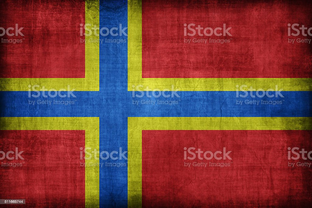 Orkney flag pattern, retro vintage style stock photo