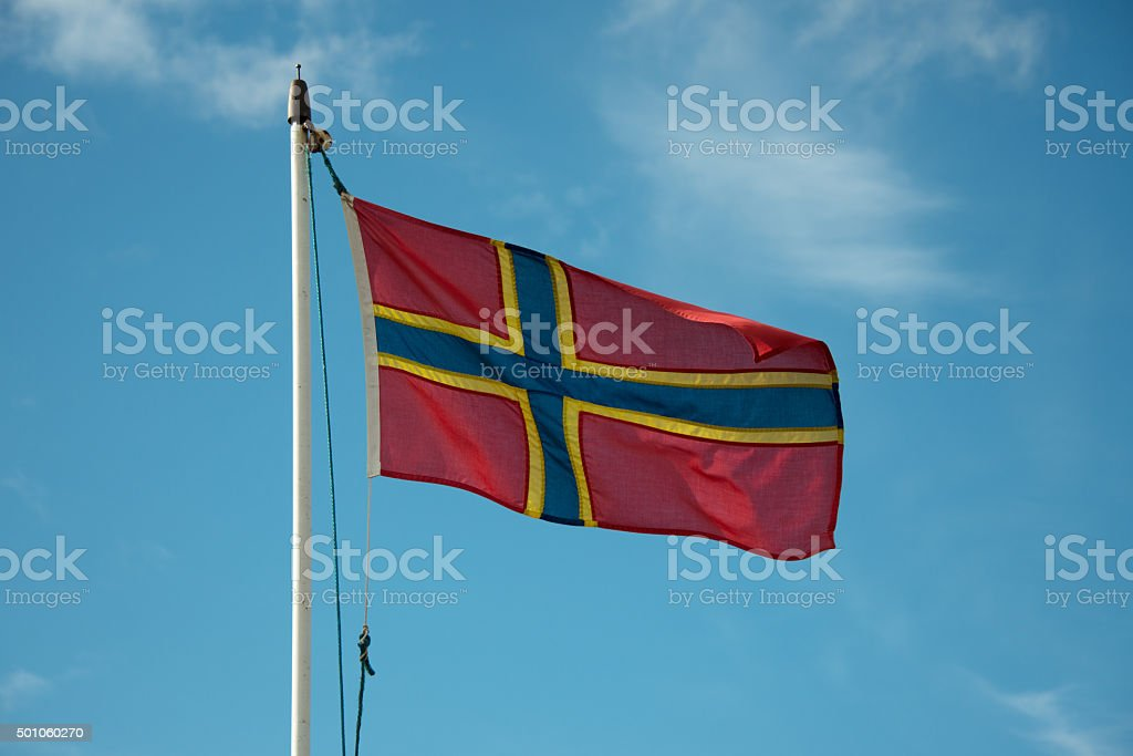 Orkney Flag stock photo