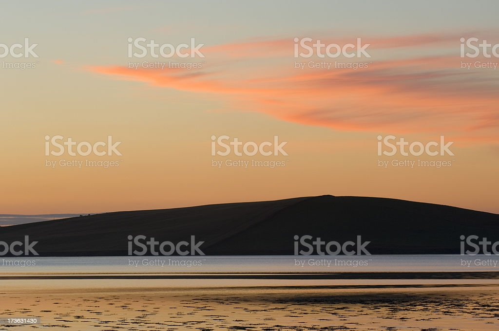 Orkney sunset stock photo