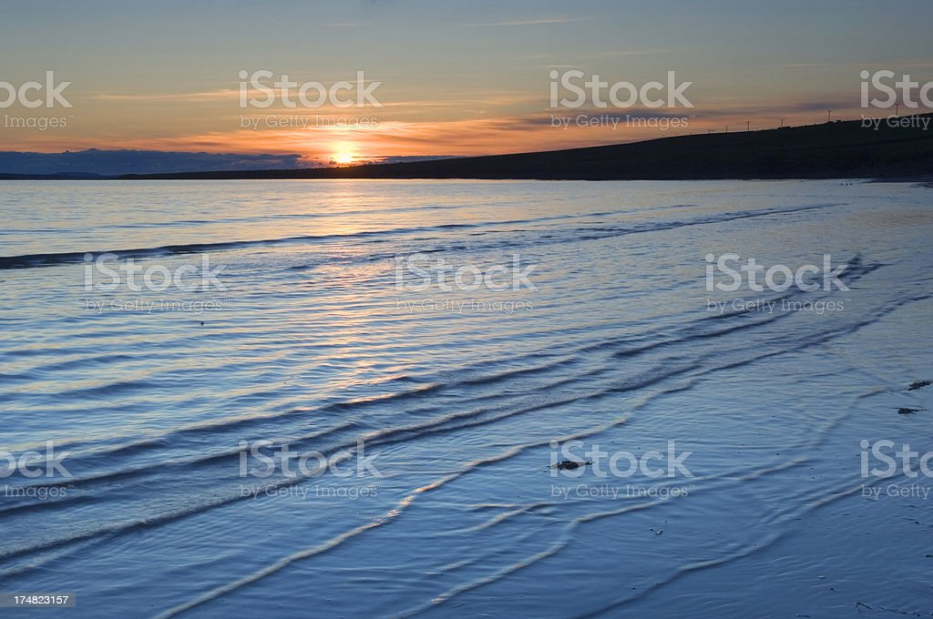 Orkney sunset royalty-free stock photo