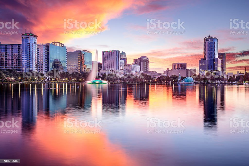 Orlando, Florida Skyline stock photo