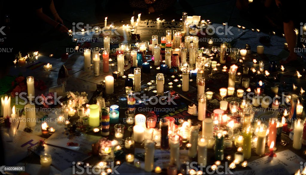 Orlando Massacre Vigil in Philadelphia, Pennsylvania stock photo